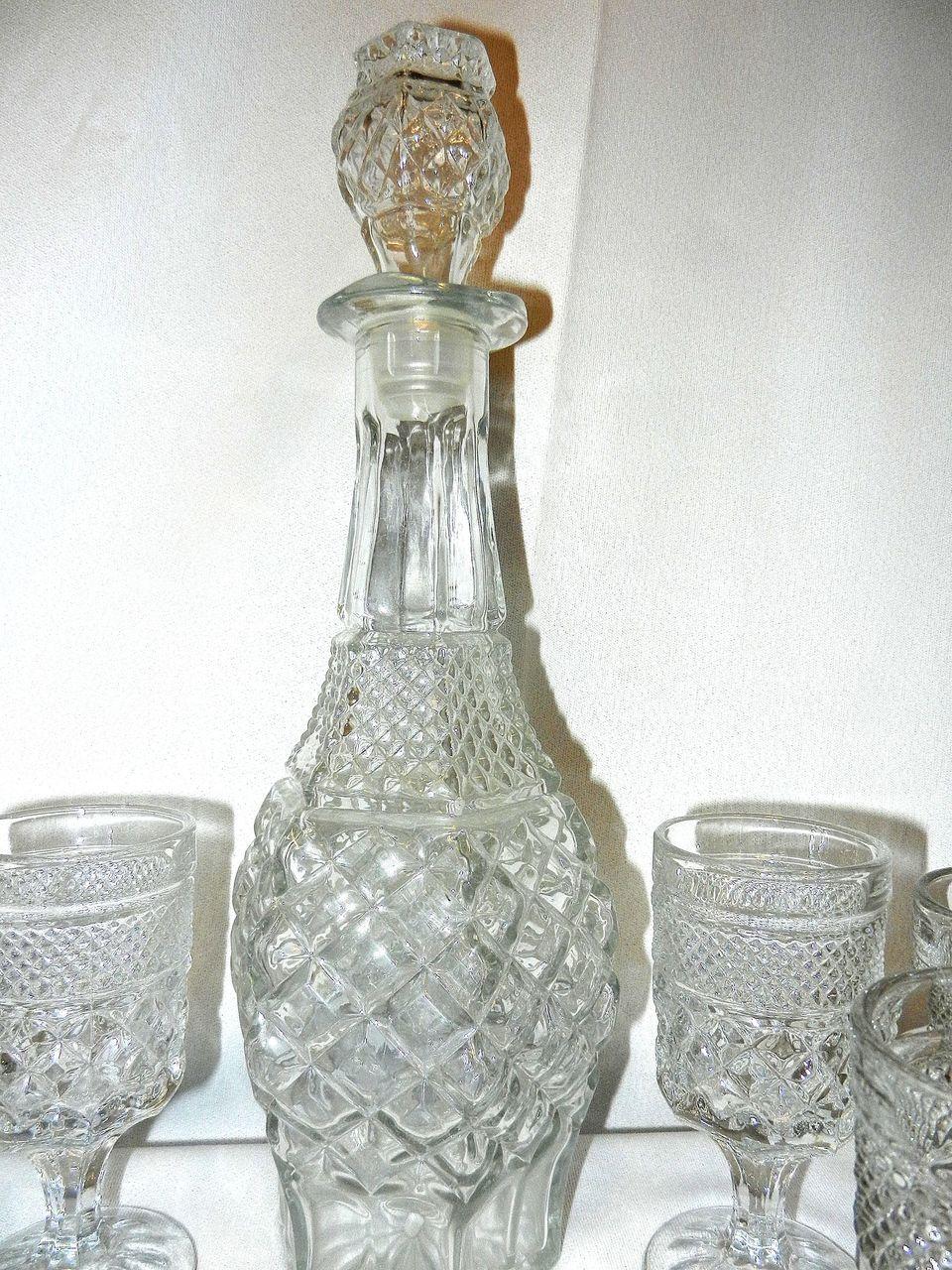 Vintage Crystal Decanter Set Cherl12345 Tamara च त र 41590676 फ न प प