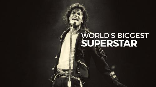 Michael Jackson Hintergrund entitled WORLD'S BIGGEST SUPERSTAR