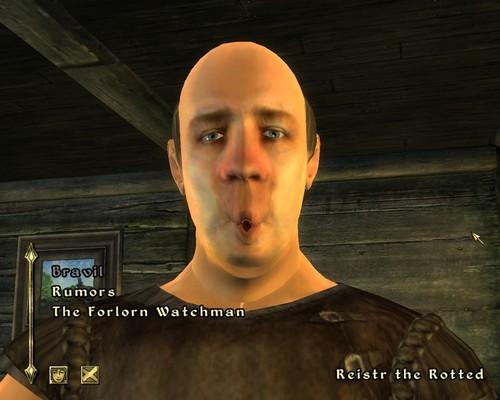 Oblivion (Elder Scrolls IV) fond d'écran called Weird Mouth Glitch