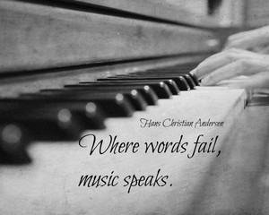Where words fail, music speaks 💜
