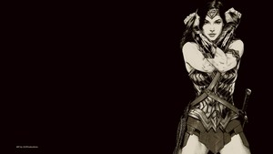 Wonder Woman In Black White 1