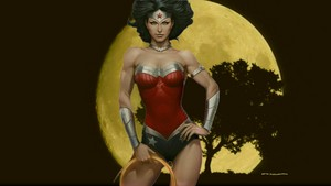 Wonder Woman The Moon 1 kertas dinding