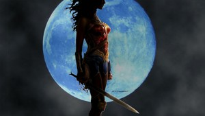 Wonder Woman The Moon 1 hình nền