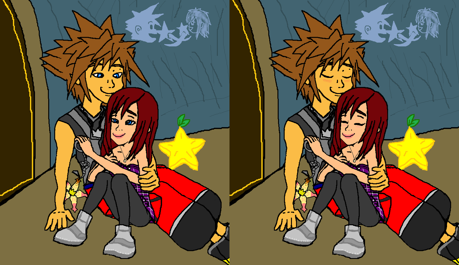 You and Me Friends Together Sora and Kairi Forever.  .