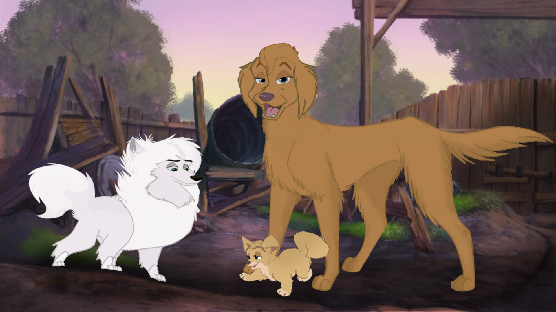 Young Angel And Her Parents Angel Lady And The Tramp 2 Fan Art 41572249 Fanpop