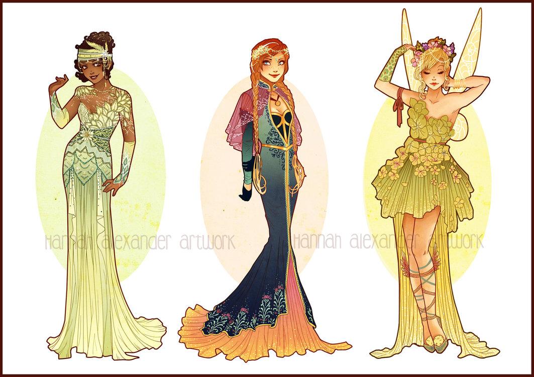 Disney images art nouveau costume designs vii by hannah alexander ...