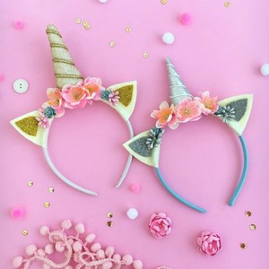 diy floral unicorn headband