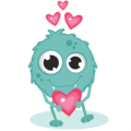 Monster in love - valentines-day photo