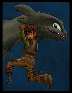 scene from httyd2 hiccup toothless playfight por inhonoredglory d6fchif