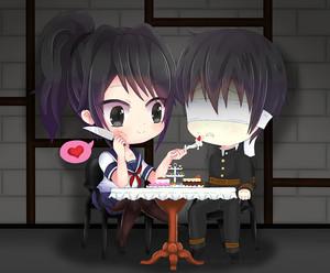 yandere chan and senpai by yukipengin d9p57a4
