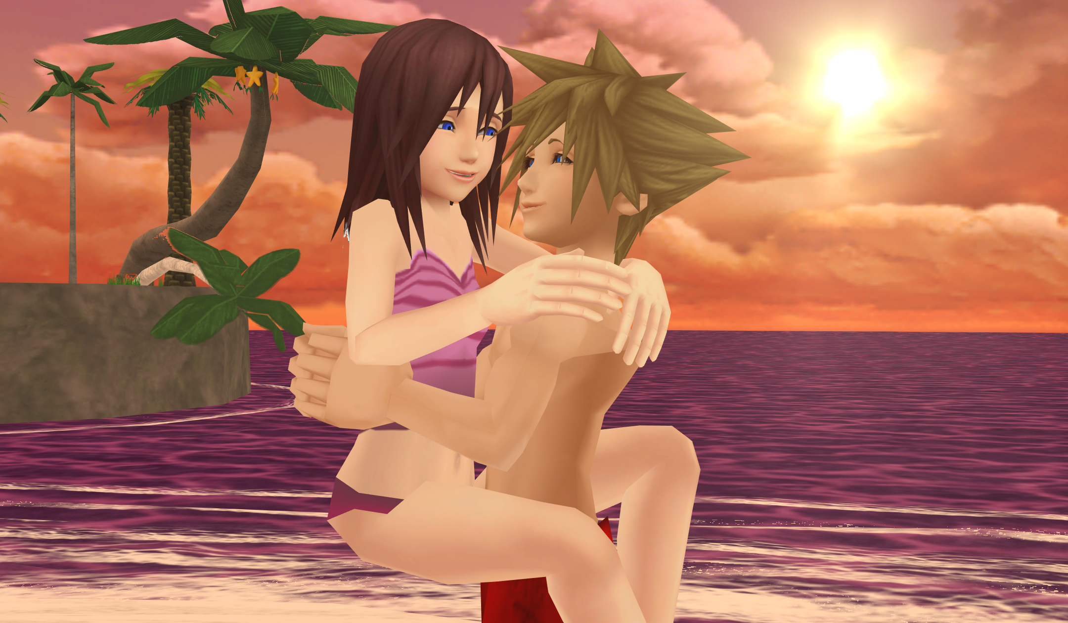 zz Happiness Sora and Kairi beach, pwani siku zz