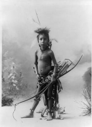 """Pulls the Bow"" Lakota Sioux (Heyn and Matzen - 1900)"