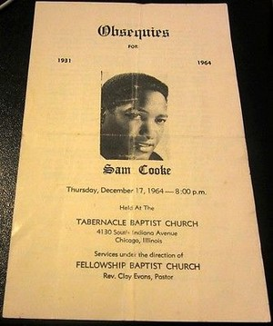 1964 Funeral Program For Sam Cooke