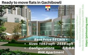 3 bhk flat for sale in Gachibowli