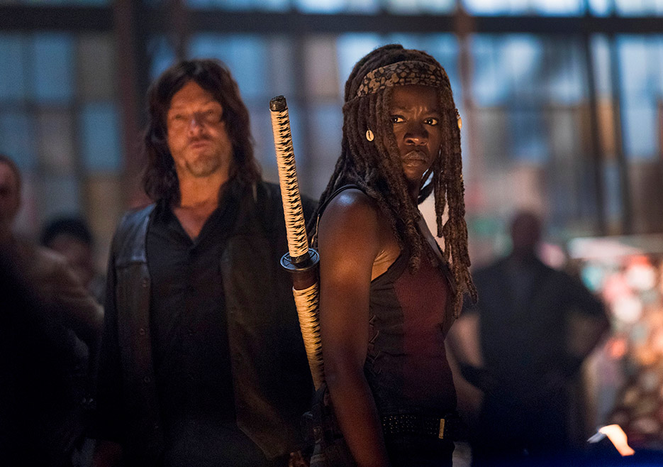 9x01 ~ A New Beginning ~ Michonne and Daryl