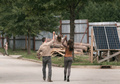 9x03 ~ Warning Signs ~ Michonne, Judith and Rick - the-walking-dead photo