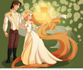 A Tangled Wedding - disney-princess fan art
