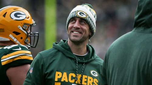 Green 만, 베이 Packers 바탕화면 called Aaron Rodgers