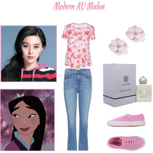 putri disney wallpaper entitled Adelita's Mulan's Modern Au daily clothing set