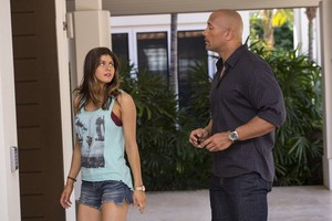 Alexandra Daddario and Dwayne Johnson San Andreas