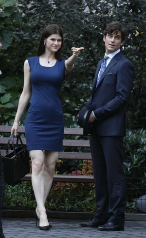 Alexandra Daddario and Matt Bomer from White کالر