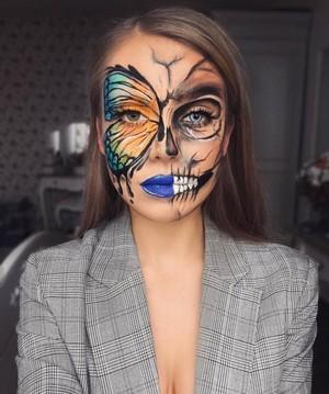 Awesome Dia das bruxas Makeup