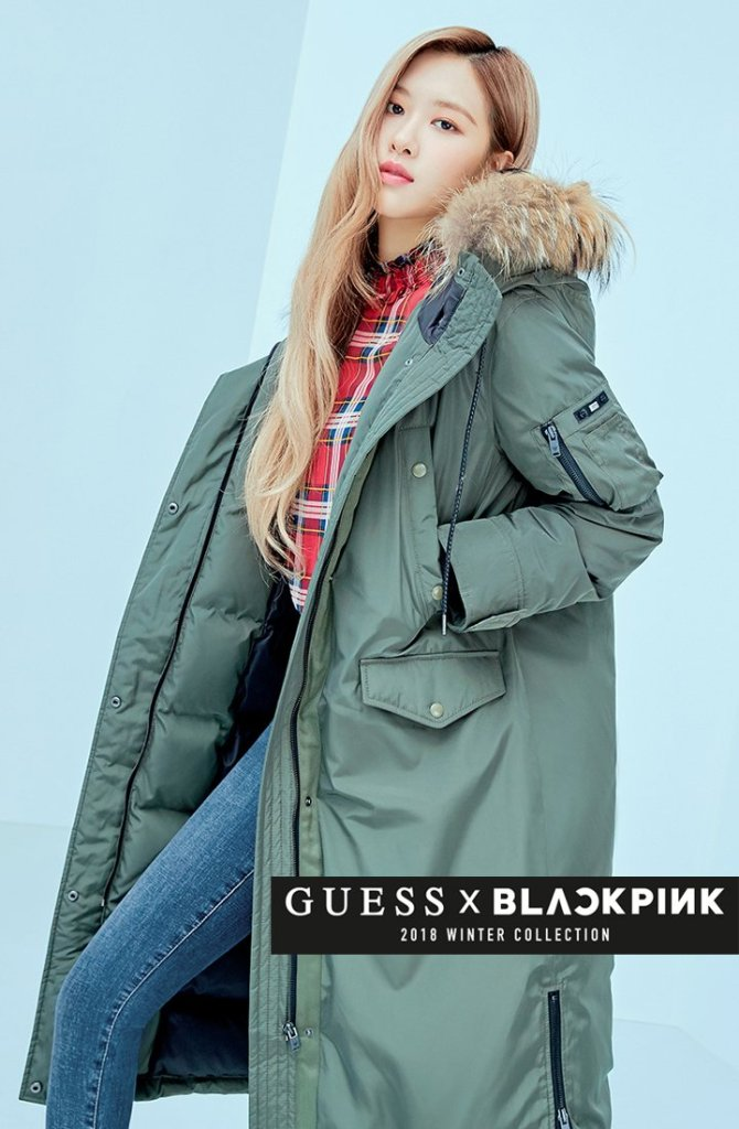 Black Rose Images Blackpink For Guess Winter Collection 2018 Hd Fond
