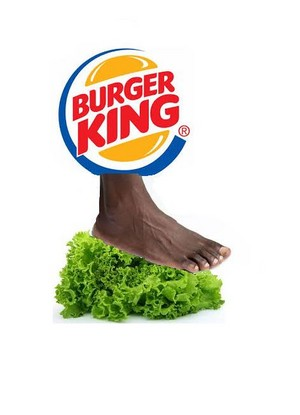 BURGER KING FOOT 生菜