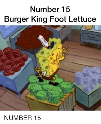 8theGreat's World wallpaper entitled BURGER KING FOOT lattuga