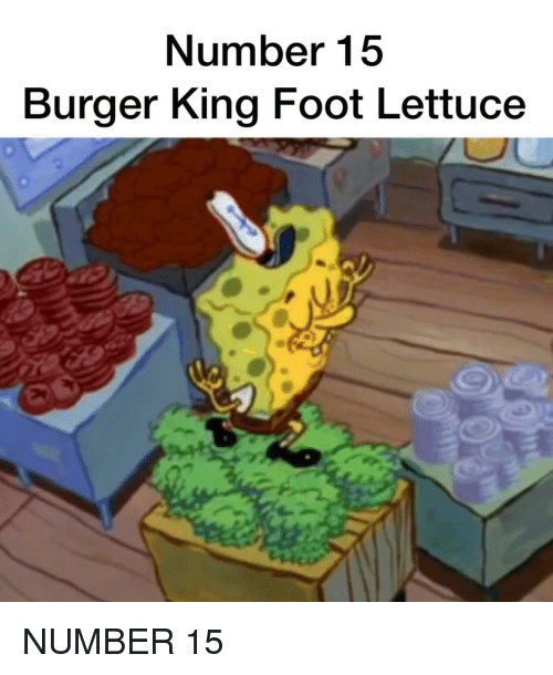 BURGER KING FOOT selada