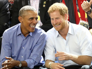 Barack Talking With Prince Harry