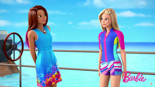 Barbie-Filme Hintergrund titled Barbie delphin Magic