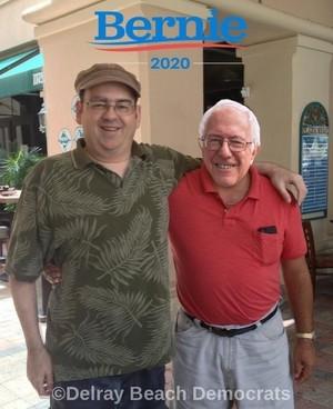Bill Santos And Bernie Sanders Delray ساحل سمندر, بیچ Fl.