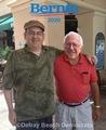 Bill Santos And Bernie Sanders Delray Beach Fl. - bernie-sanders photo