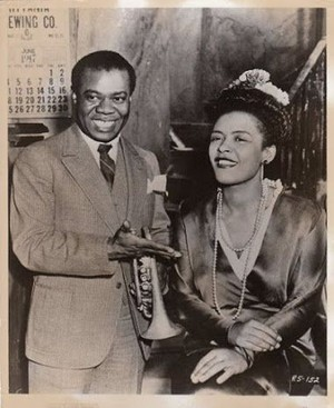 Billie Holiday and Louis Armstrong
