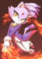 Blaze the cat - blaze-the-cat fan art