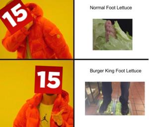 Burger king foot सलाद, सलाद पत्ता