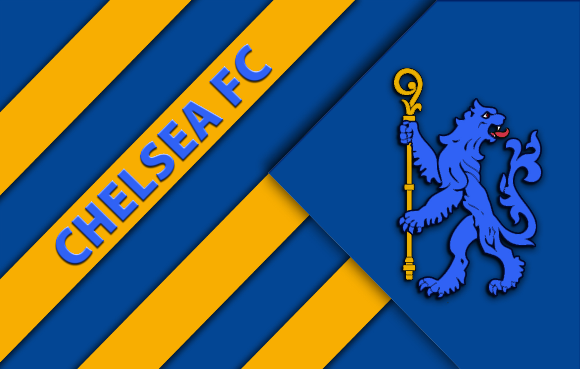 Imunionjack Images Chelsea Fc Wp Yellow Blue Lion Hd Wallpaper And