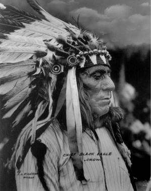 Chief Black Eagle (Crow) Frank A Rinehart 1898