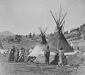Chief Washakie's Tepee (Group of Eight Shoshoni People Nearby)  N.D. - native-pride photo