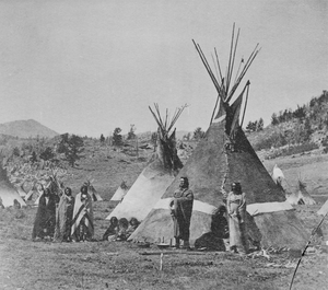 Chief Washakie's Tepee (Group of Eight Shoshoni People Nearby) N.D.