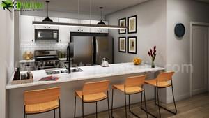 Creative Modern Style 부엌, 주방 디자인 Ideas 의해 Yantram 3d interior modeling Bern