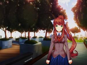 DDLC Monika (Lucid9 School Rooftop)