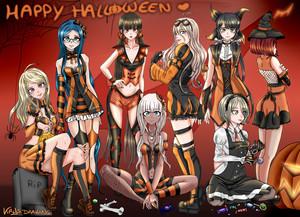 DRV3 GIRLS Хэллоуин