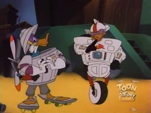 Darkwing Duck and Gizmo Duck