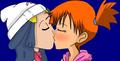 Dawn and Misty kiss  - pokemon photo