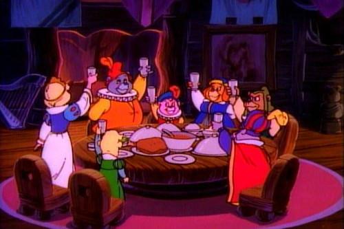 Disney's Adventures of the Gummi Bears fond d'écran called dîner with the gummis