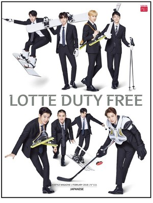 EXO for Lotte Duty Free Magazine in Feb 2018