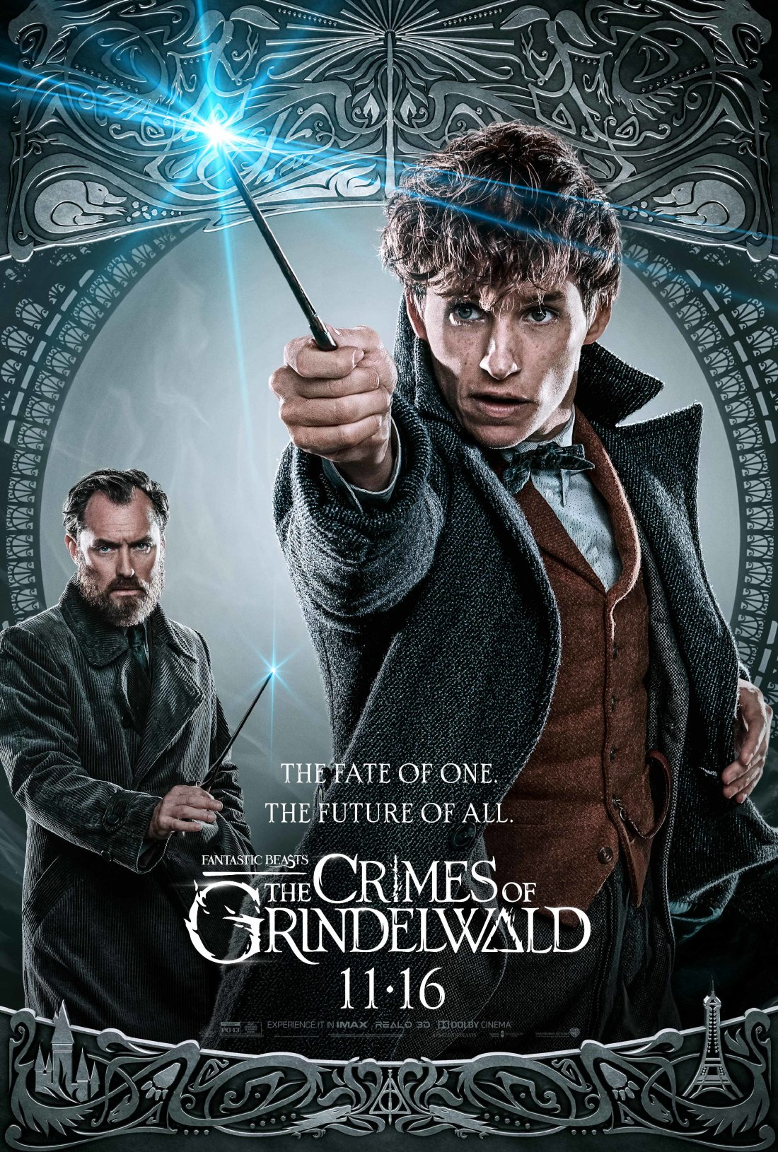 Fantastic Beasts: The Crimes of Grindelwald (2018) Poster - Dumbledore and Newt