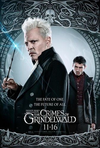 Fantastic Beasts and Where to Find Them wallpaper titled Fantastic Beasts: The Crimes of Grindelwald (2018) Poster - Grindelwald and Credence